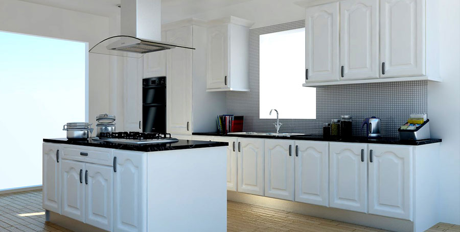White Cathedral Style Kitchen